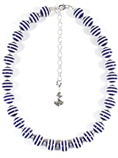 Best navy and white necklace Reviews