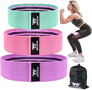 WOOSL Resistance Bands for Legs and Butt,Walito Exercise Bands Set Booty Bands Hip Bands Wide Workout Bands Sports Fitness Bands Stretch Resistance Loops Band Anti Slip Elastic (2019 Upgrade)