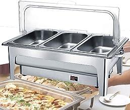 XBSXP Chafing Dishes Servant des Chauffe-Plats, serveurs et Chauffe-buffets électriques 9L, Chauffe-Plats de Restauration ...