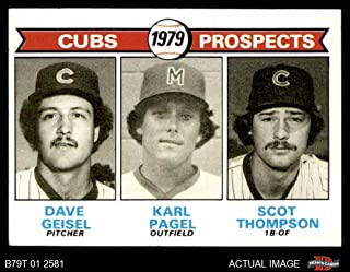 1979 Topps # 716 Cubs Prospects Dave Geisel/Karl Pagel/Scott Thompson Chicago Cubs (Baseball Card) Dean's Cards 6 - EX/MT Cubs