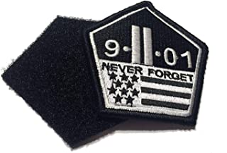 The Original US Made 9/11 Never Forget Patch (Hook, Loop) Morale Military Twin Towers
