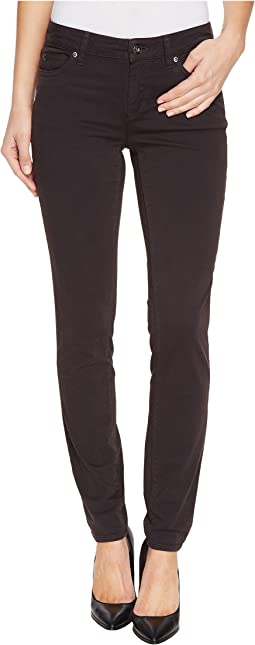 Stretch Sateen Five-Pocket Skinny Jeans in Dark Shale