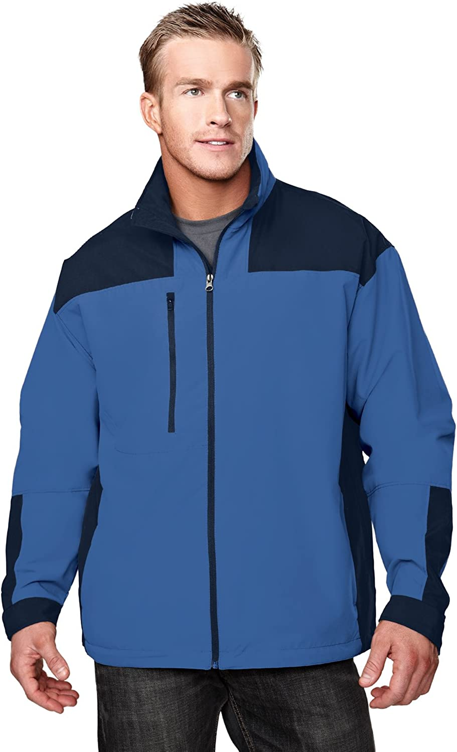 Tri-mountain Microfiber jacket with mesh lining. 6050TM - IMPERIAL BLUE/NAVY_S