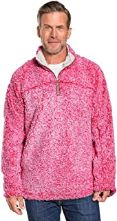 True Grit Mens Frosty Tipped Pile 1/4 Zip Pullover