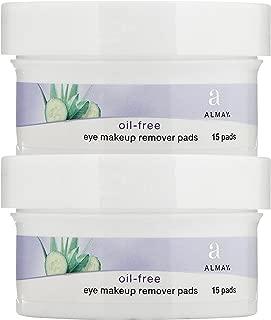 Almay Oil, Free Eye Makeup Remover Pads - 15 ct - 2 pk