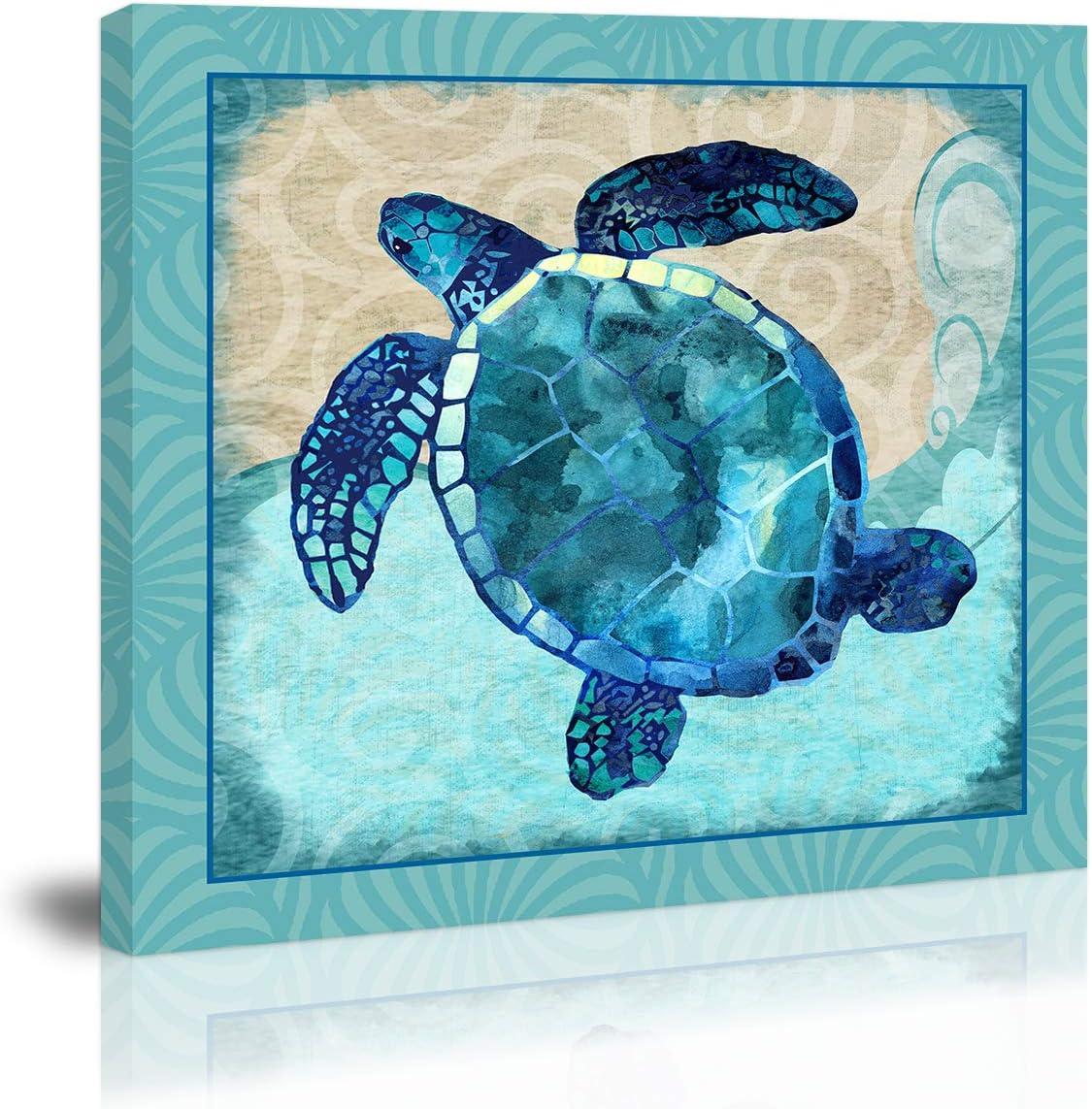 Blue Turtle Wall Art Soldering Decor Artwork Popular overseas Prints Modern Canvas Painting