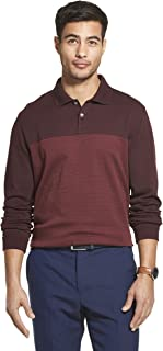 Men's Flex Long Sleeve Jaspe Colorblock Polo Shirt