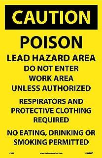 C385 National Marker Poison Lead Hazard Area Paper Hazard Sign (Pack of 100)