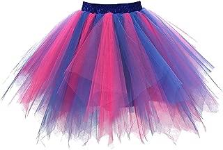Girstunm Women's 1950s Vintage Petticoats Bubble Tutu Dance Half Slip Skirt