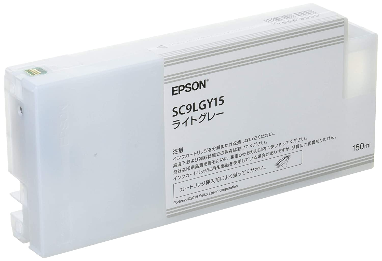 EPSON 純正インクカートリッジ SC9LGY15 ライトグレー/150ml