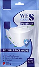 [5Pcs] Wes Care NanoMask Reusable   Made in Singapore   UV Clean, Soft & Comfortable, Easy to Breathe, Convenient Pack   S...