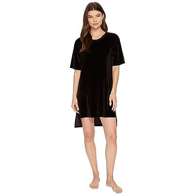 Donna Karan Velour Sleepshirt (Black) Women