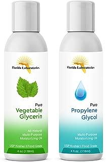 2-4oz Vegetable Glycerin & Propylene Glycol USP Kosher VG PG 99.9% Pure Food Grade