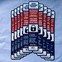 10 Pack. Lockdown Magnetic Strips for School Lockdowns. Rapid Lockdown Magnet for Faster & Safer School Lockdowns. 8.5