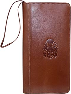 Style98 Unisex Vintage Burgundy Leather Travel Wallet with Multiple Chequebook Holder Passport Pouch