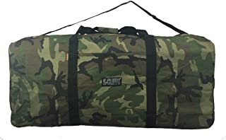 "Heavy Duty Cargo Duffel Large Sport Gear Drum Set Equipment Hardware Travel Bag Rooftop Rack Bag (42"" x 20"" x 20"", Camoufl..."