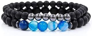 Greenflows 2Pcs/Sets Cz Crown Charm Bracelets Set for Women Men's Stone Couple Bracelet Bangles Sets