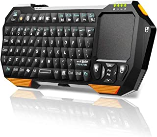 Bluetooth キーボード ミニ ワイヤレス 携帯式軽量小型 タッチパッド搭載 Smart TV スマートテレビ Projector プロジェクター Android / iOS / Windows スマホ、タブレット、ラップトップ、ノート、...