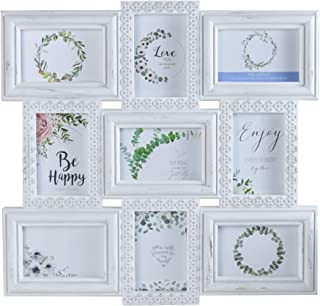 MELANNCO 9-Opening Wall Collage, White