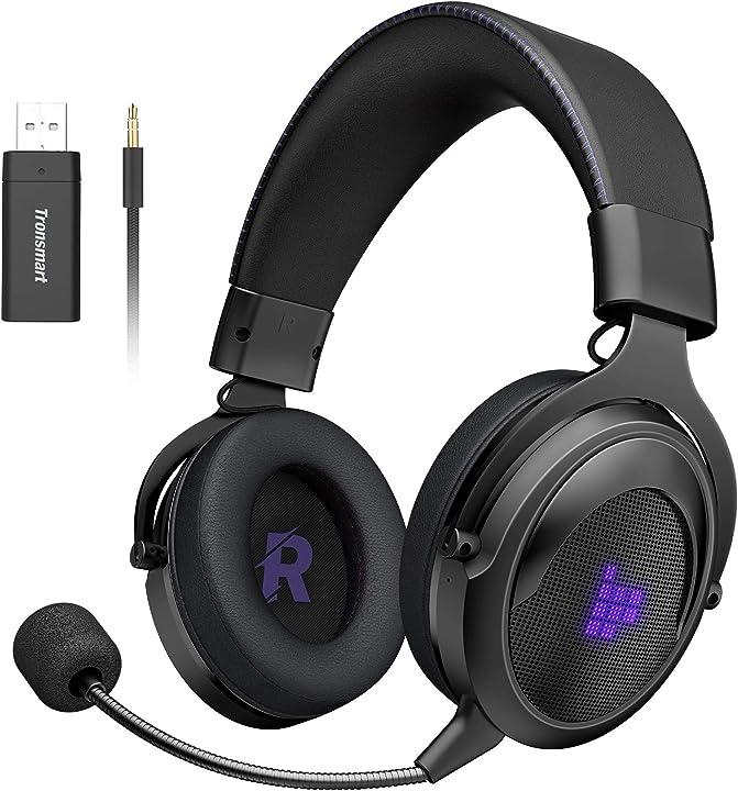 Cuffie da gioco con microfono 2.4g wireless cuffie gaming 3,5 mm  altoparlanti da 50mm-audio surround SHADOW