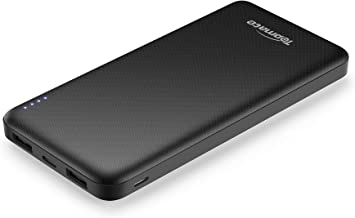 Topmate Power Bank Portable Charger 10000mAh External Battery Pack with Type-C Input & Output | Ultra Thin Design for Cellphone and Pad etc |Black … and Some Laptops |White