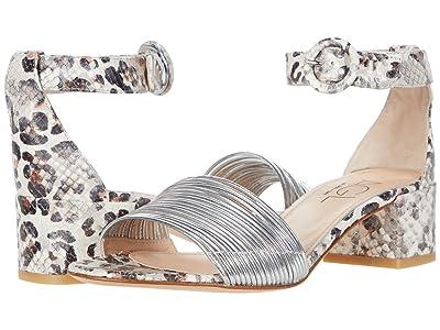 AGL Ankle Strap Sandal (Silver/Thaij Leopard Snake) Women