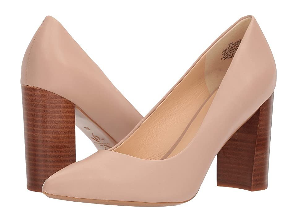 Nine West Astoria Block Heel Pump (Barely Nude Dress Calf) High Heels