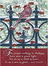 Legacy Publishing Group Boxed Holiday Greeting Cards with Scripture, Cardinal & Berries on Fence (HBX22704)