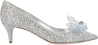 JIMMY CHOO Luxury Fashion Womens ALLURESXUCRYSTAL Silver Pumps |