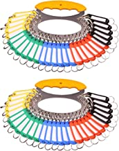 Maydahui 2PCS Key Organizer Manager Portable Keychain with 28 Separable Key Rings and 30 Assorted Color Key Tags