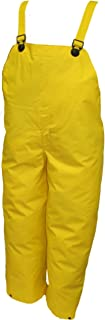 TINGLEY Rubber O56007 Dura Scrim Plain Front Overalls, X-Large, Yellow