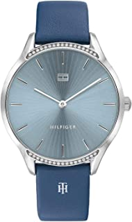 Tommy Hilfiger Women's Blue Dial Blue Leather Watch - 1782213