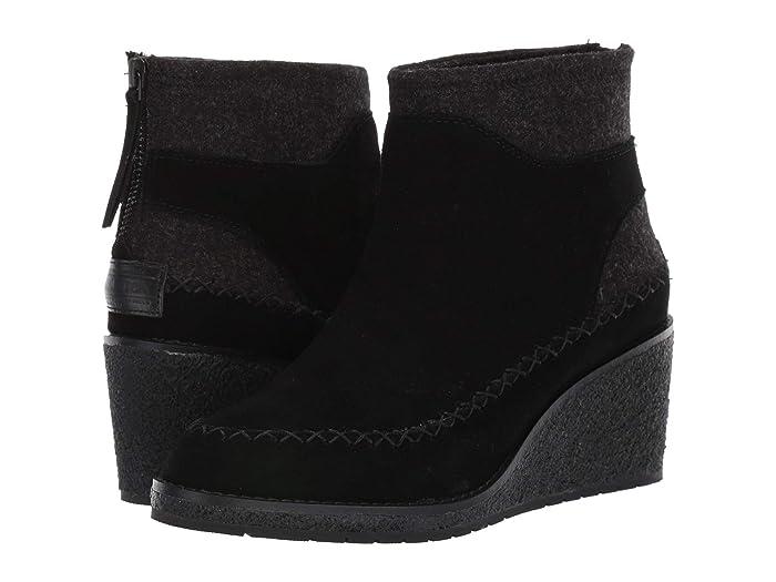 Arago Wedge  Shoes (Black) Women's Boots