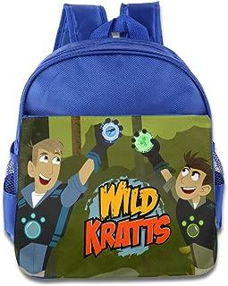 Toddler Kids Wild Kratts School Backpack Cartoon Children School Bags