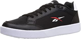 حذاء رياضي للتنس قماش وجلد صناعي برباط وشعار مختلف اللون للجنسين من ريبوك فيكتور سماش - اسود كور، 40.5 EU