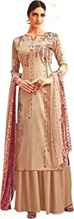 Rosaniya Digital Printed Pashmina Dress Material Salwar suit for Women for Winter wear with Shawl (1ZAREE13009_Woolen_Cream