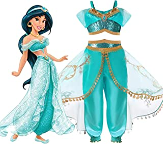 Children's Dress - Princess Jasmine Disney Aladdin Costume 5-8 Years