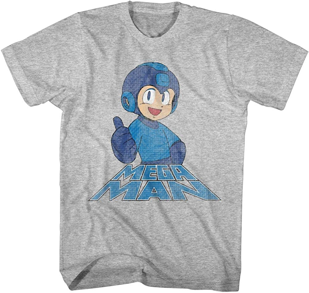 Mega Man Video Game Character Thumbs online online shop shop Adult T Up On T-Shirt Right
