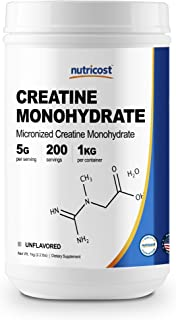Nutricost Creatine Monohydrate Micronized Powder (1 KG) - Pure Creatine Monohydrate