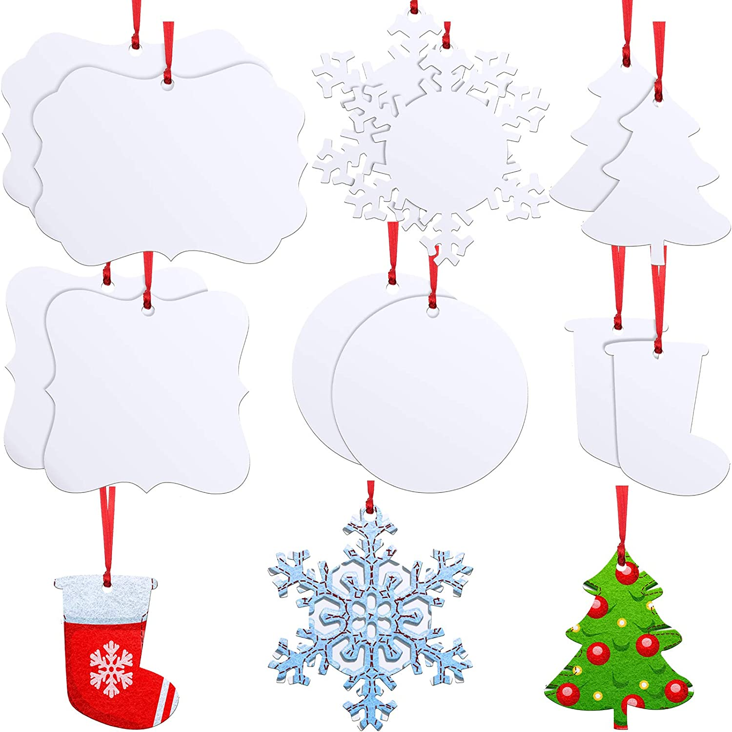 12 Special price for a limited time Pieces Sublimation Wooden Ornaments Pendant Charlotte Mall Blank