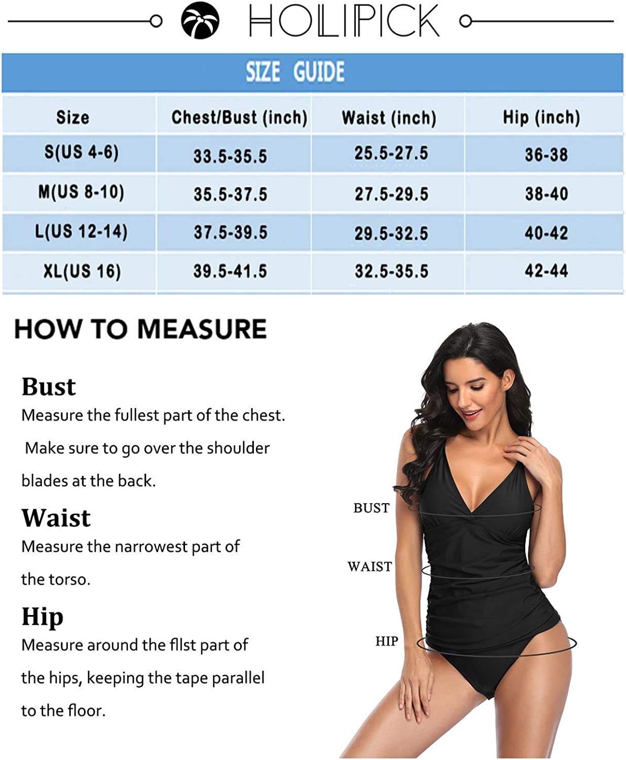 Holipick Tummy Control Two Piece Swimsuits for Women Halter Tankini Top Sexy V Neck Macrame Ruched Bathing Suits with Shorts