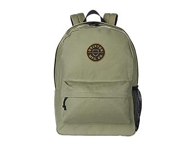 Brixton Crest Backpack (Washed Olive) Backpack Bags