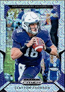 2019 Panini Prizm Draft Picks Prizms Mojo #122 Clayton Thorson /49 Northwestern Wildcats RC Rookie Collegiate Football Trading Card