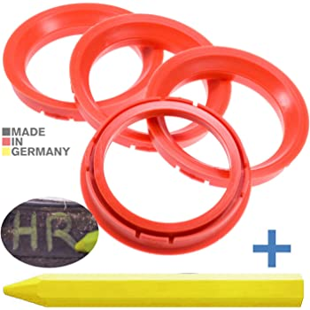 4x Zentrierringe Rot 66 45 Mm X 57 1 Mm 1x Reifen Kreide Fett Stift Auto