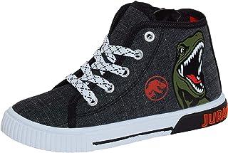 Jurassic World Leinenschuhe Hi Top Sneaker Dinosaurier Stiefeletten Reißverschluss Pumps Sneakers