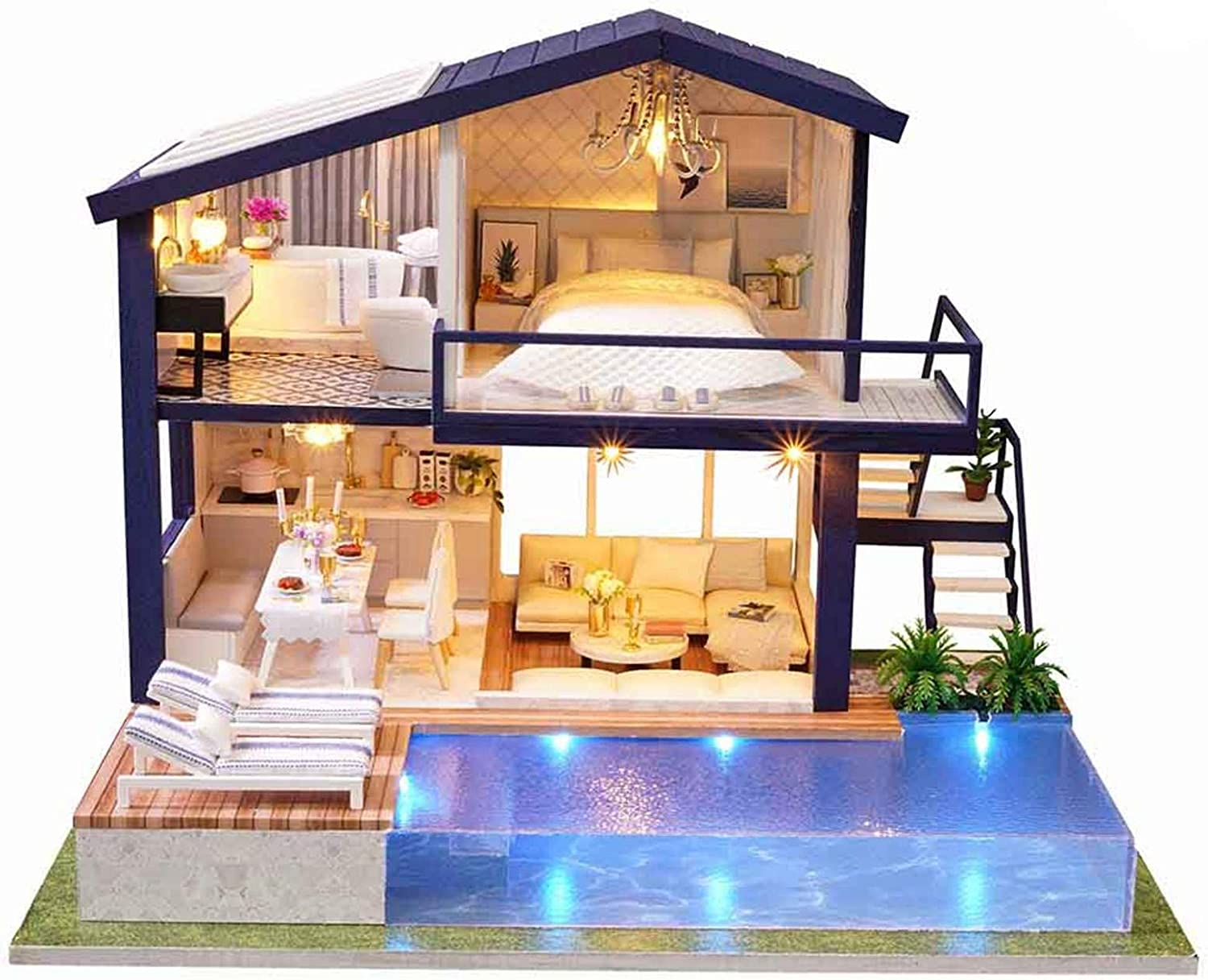 Daoxiang Dolls House Kit DIY Dollhouse 3D Miniature Min Wooden Max 90% OFF Indefinitely