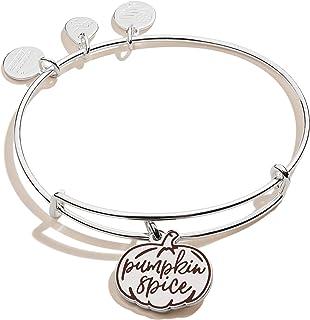 Alex and Ani Color Infusion, Pumpkin Spice II Bangle Bracelet Shiny Silver One Size