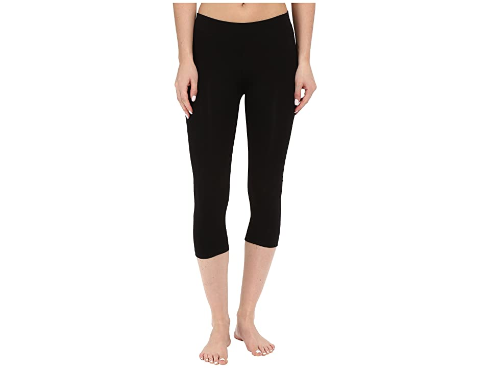 PACT Organic Cotton Cropped Leggings (Black) Women