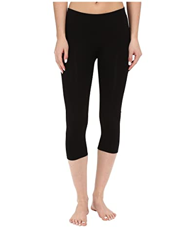 PACT Organic Cotton Cropped Leggings (Black) Women