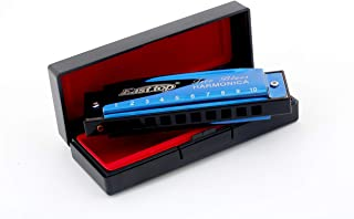 East top 10 Holes 20 Tones Blues Diatonic Harmonica Mouth Organ Harp Key of C For Kids, Beginners, Professional, Students
